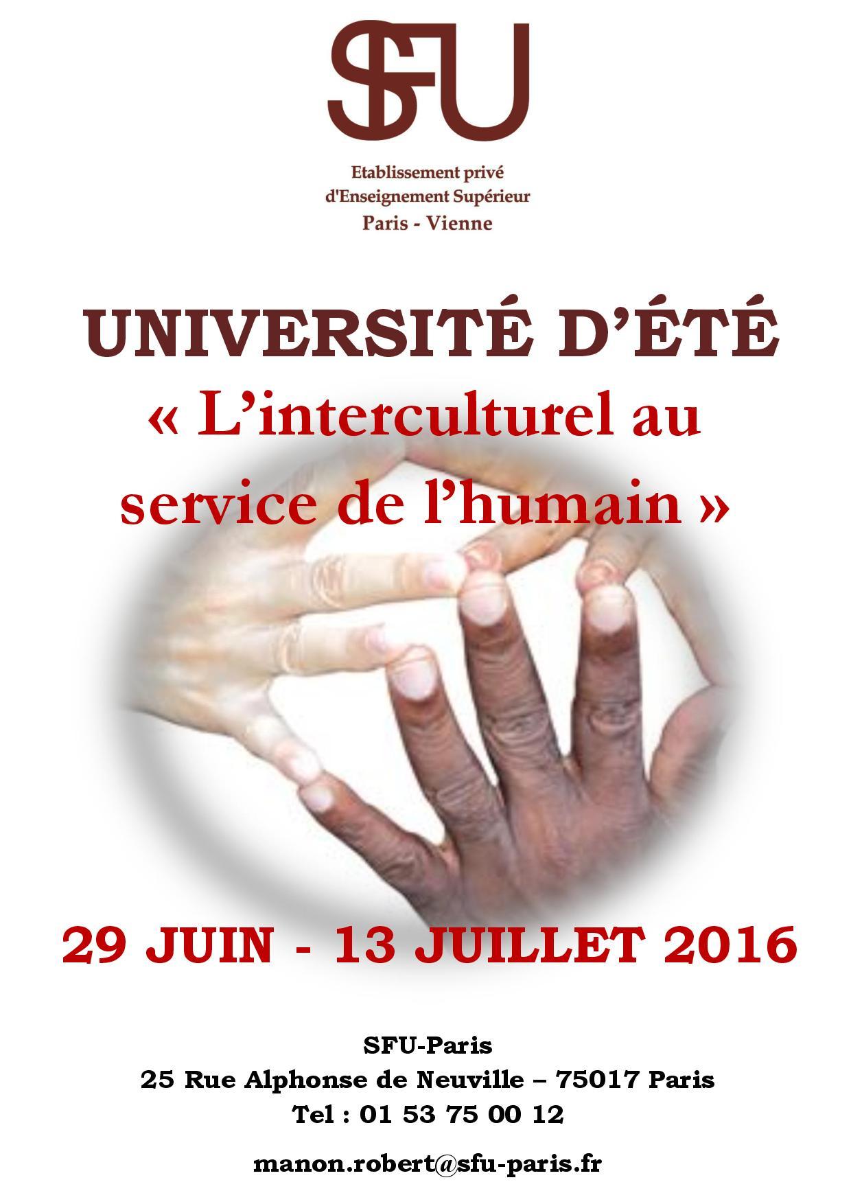 Université d'été 2016